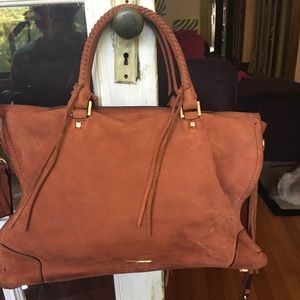 Rebecca Minkoff large suede regan satchel